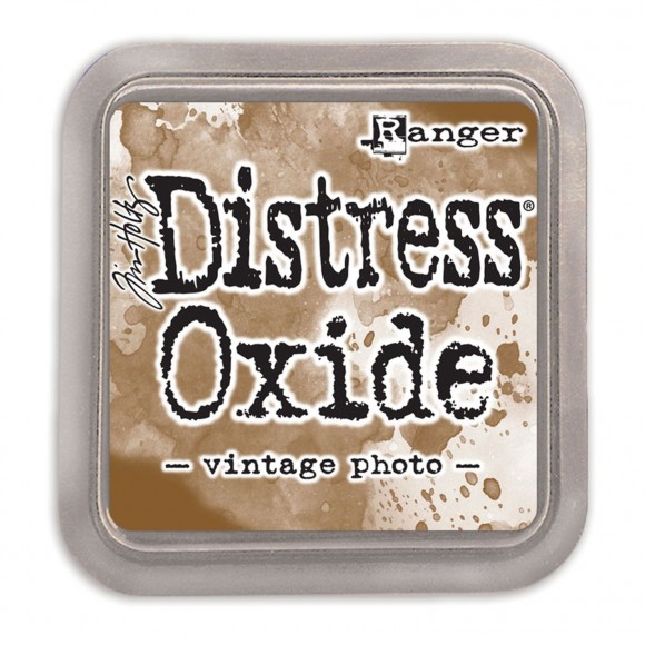 Tim Holtz distress oxide vintage photo