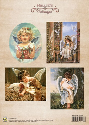 Sheet Christmas colour vintage Angels