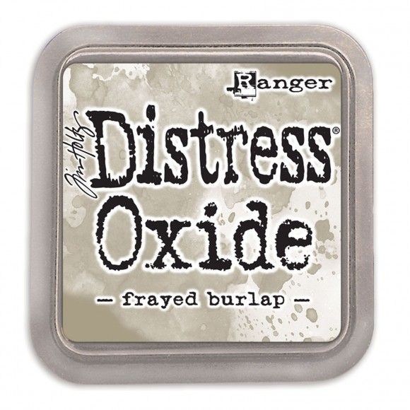 Tim Holtz distress oxide frayed burlap