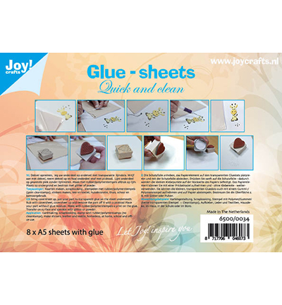 Glue-sheets A5 - Quick and clean