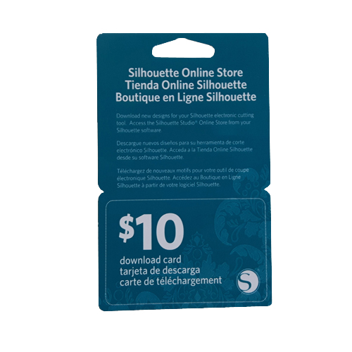 Silhouette Downloadkaart $10