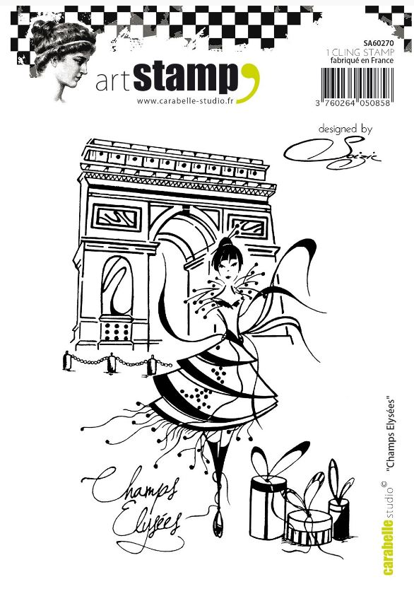Carabelle cling stamp A6 Champs Elysées by Soizic