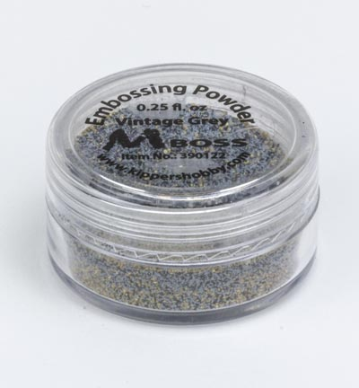 Mboss embossing powder Vintage Grey