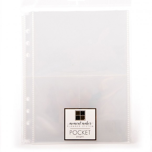 Moment Maker - Planner inserts - Plastic Pocket Pages - 15pcs