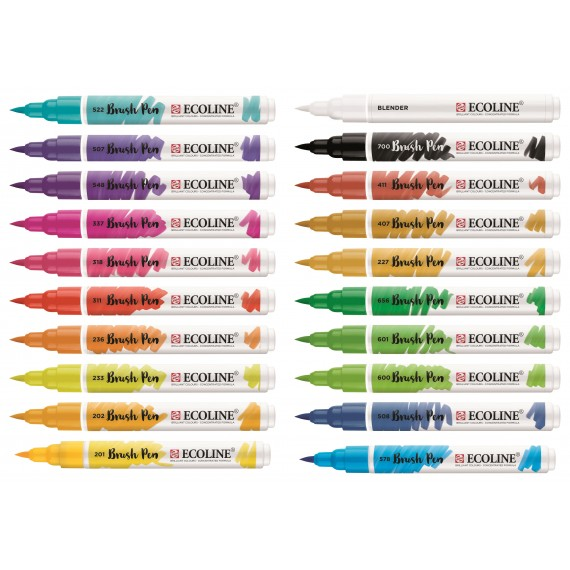 Ecoline Brush Pen set 20 stuks