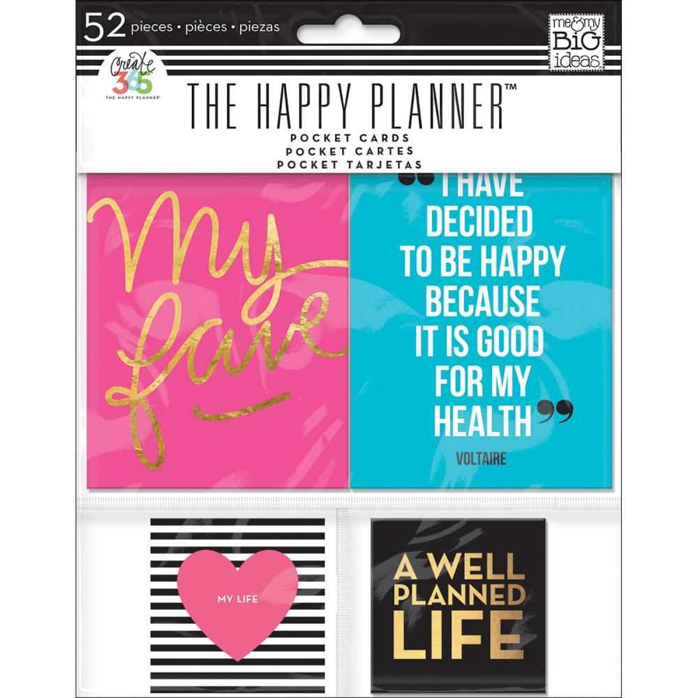 The Happy Planner - Smile - Pocket Cards - 52 pcs