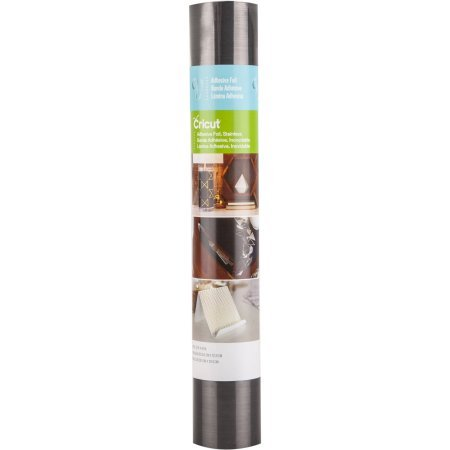 Cricut - Adhesive Foil - Stainless Dark Silver - 12 in.x48 in. (1pcs)