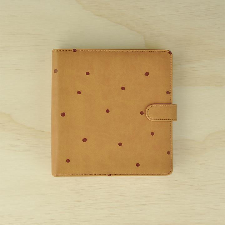 Kaisercraft planner TAN with embossed spots - (met inhoud)