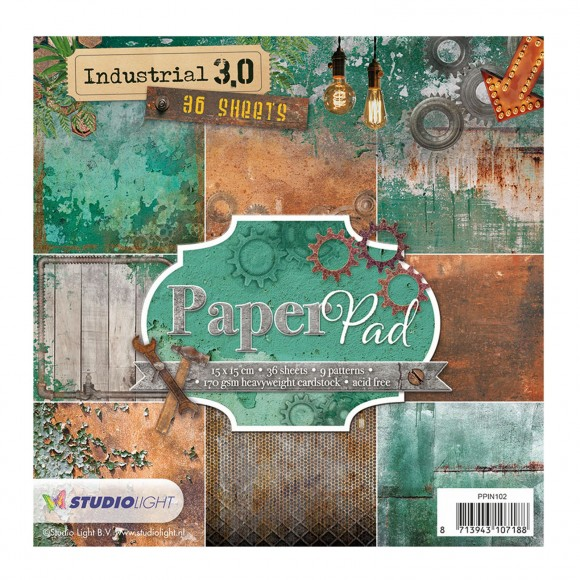 Studio Light paper pad 15x15cm 200g Industrial 3.0 nr. 102