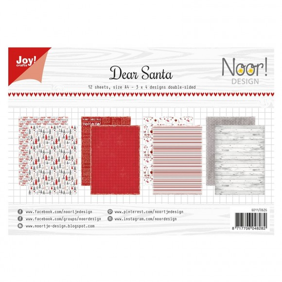 Joy!Crafts  Papierset A4 12 vel Noor design dear santa