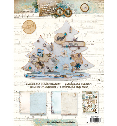 MDF Pakket incl.papier - Winter Memories Christmas Tree