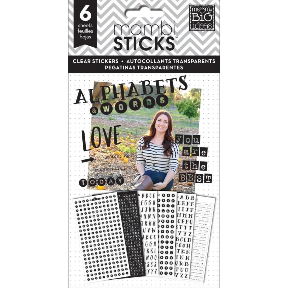 The Happy Planner- Pocket Pages Clear Stickers - The Best -  6/Pkg