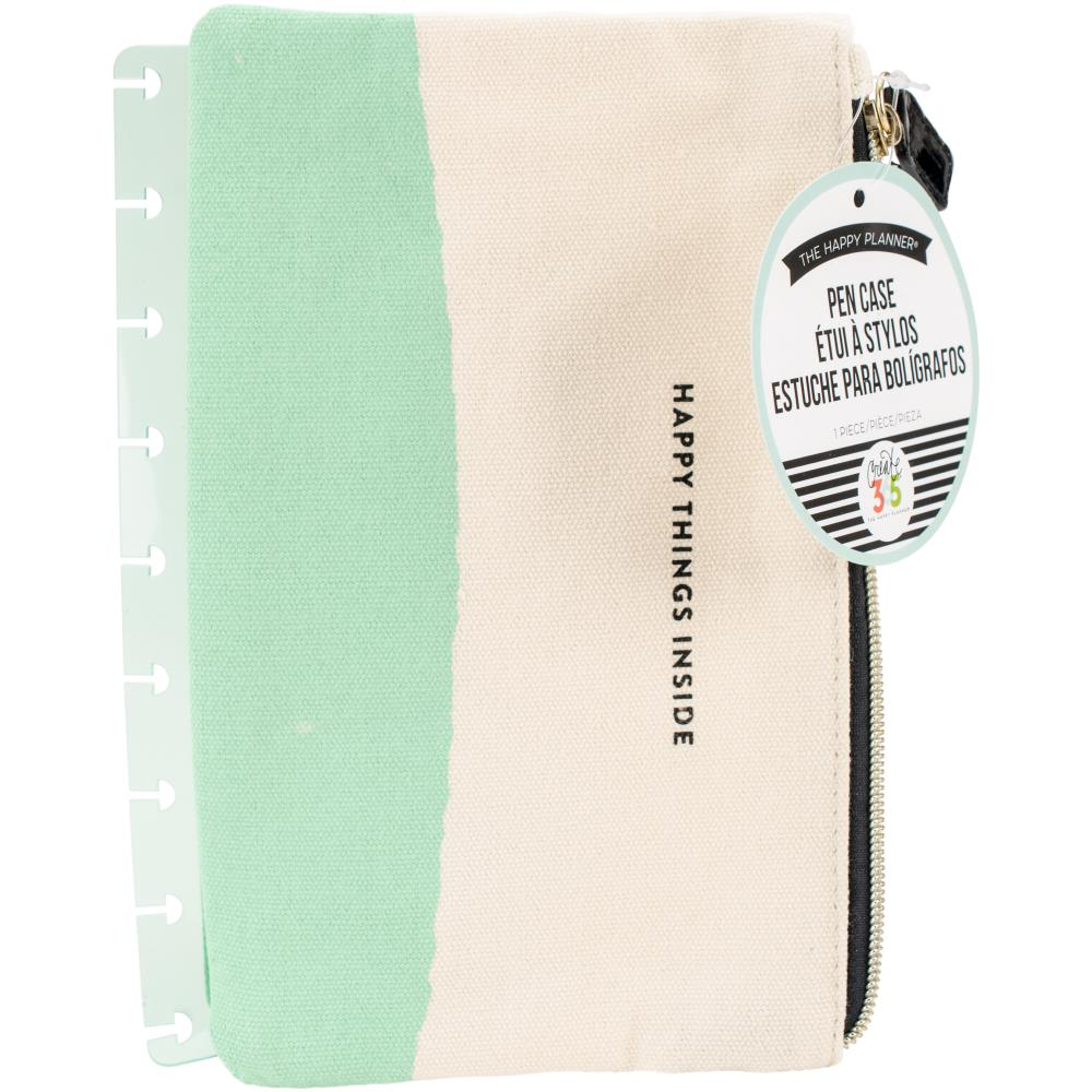 The Happy Planner - Planner Snap Pouch - Pen Case - Happy Things Mint - 1pcs