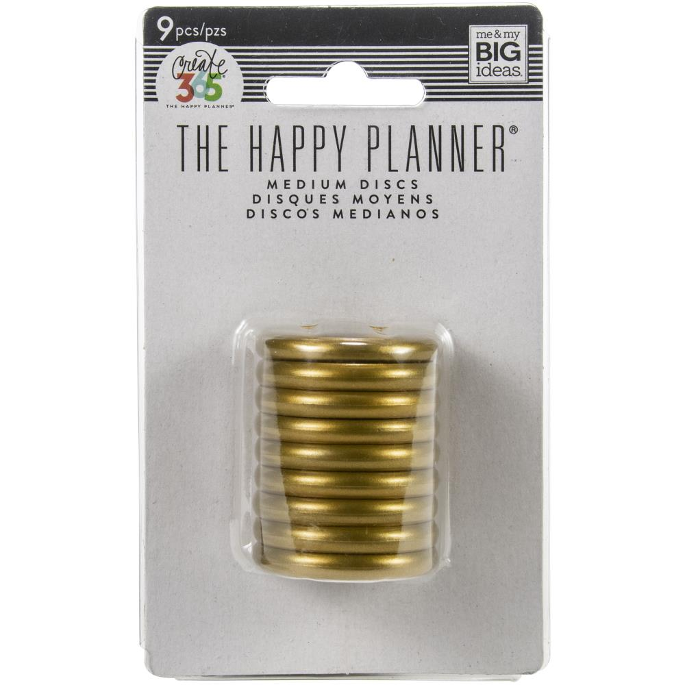 Happy Planner Discs Gold 1.25