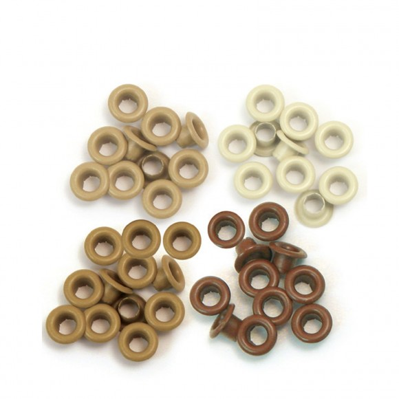 We R Memory Keepers standard eyelets x60 aluminium brown