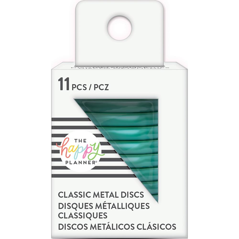 Happy Planner Medium Classic Metal Discs Teal 1.25