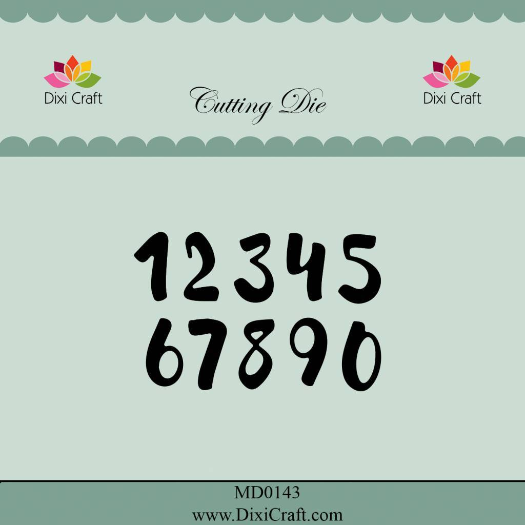 Dixi Craft Numbers - Small cutting die