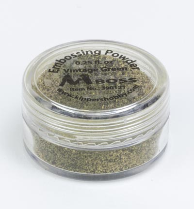Mboss embossing powder Vintage Green