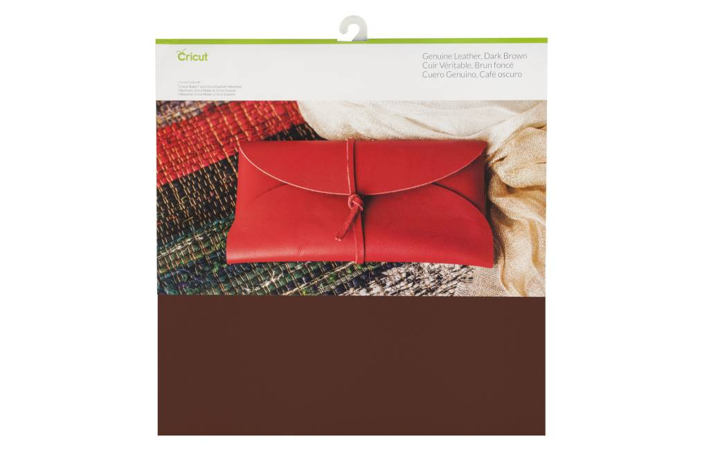 Cricut - Genuine Leather - Dark Brown - 12 in.x12 in. (1pcs)