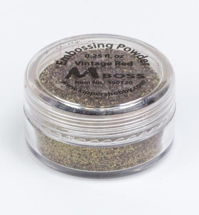 Mboss embossing powder Vintage Red