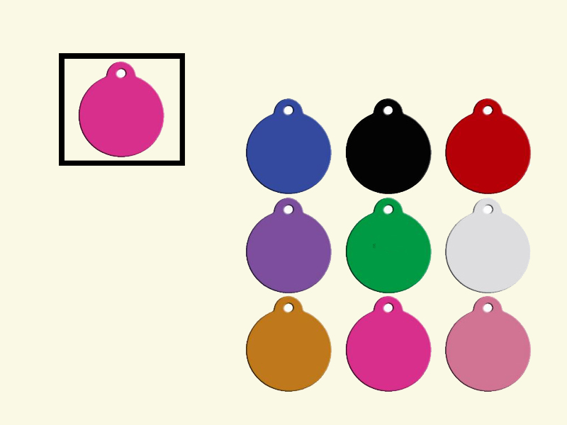 Dog tags Rond Rose