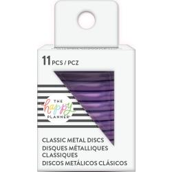 Happy Planner Medium Classic Metal Discs Violet 1.25