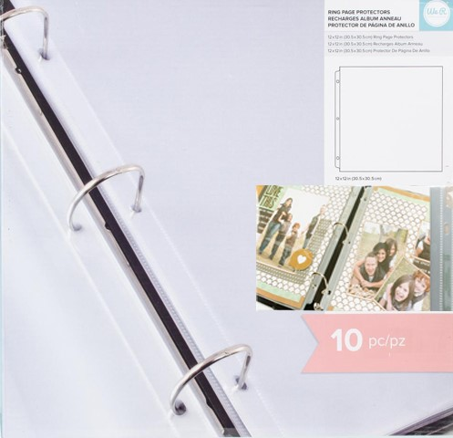 We R Memory Keepers - Ring page protectors - Fuseble - 10pcs