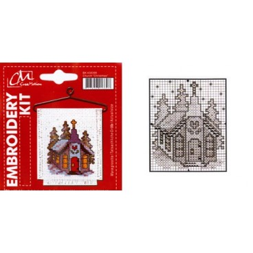 Embroidery Kit  Church Christmas