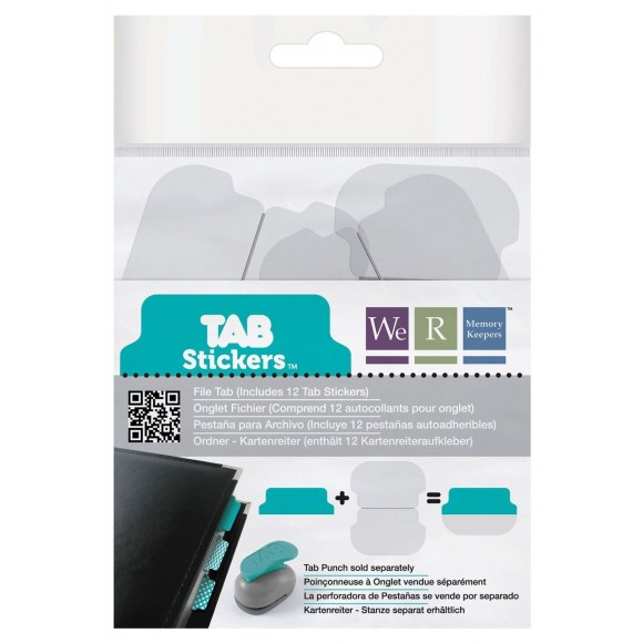 We R Memory Keepers - Tab Stickers  - 12 pcs