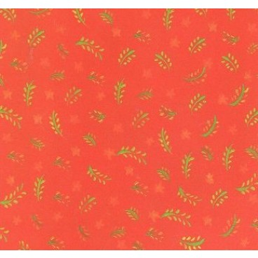 K&Company KH Red Leaves & Stars Flat Paper