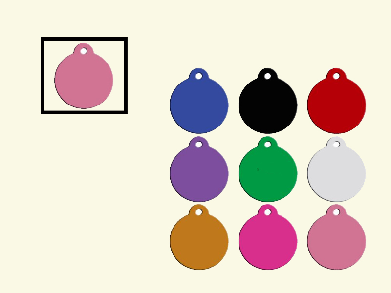 Dog tags Rond Candy