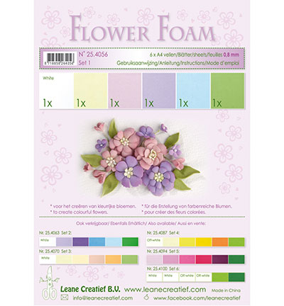 Leane Creatief - Flower Foam - Set 1 Pastel Colours
