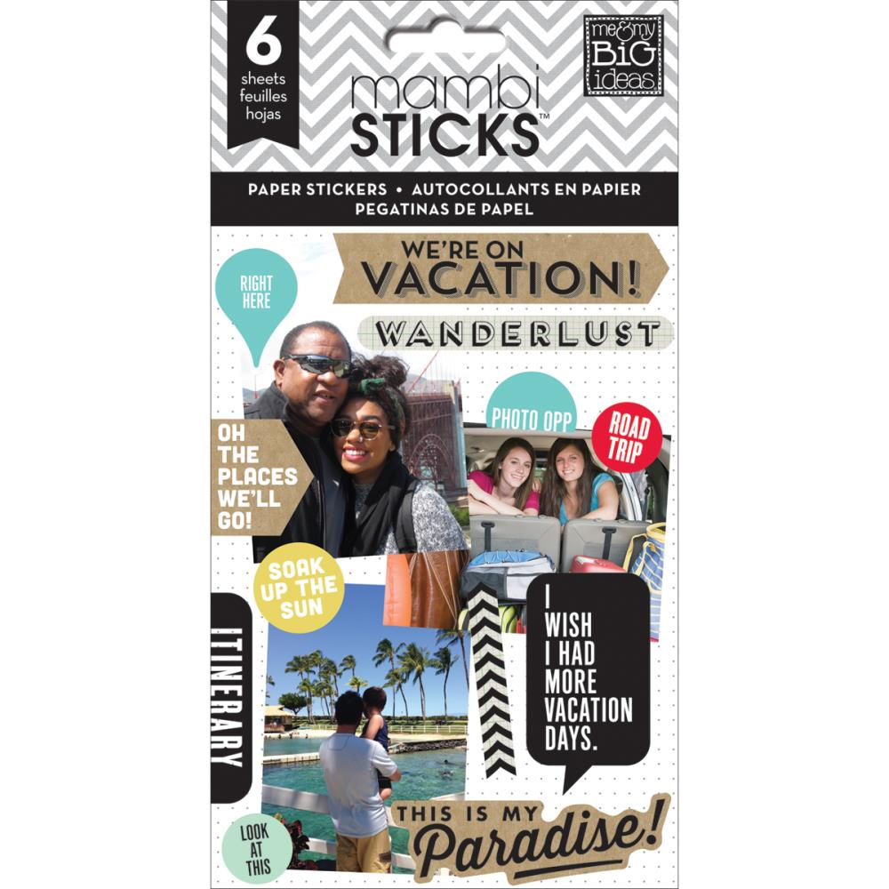 The Happy Planner- Pocket Pages Clear Stickers - On Vacantion -  6/Pkg