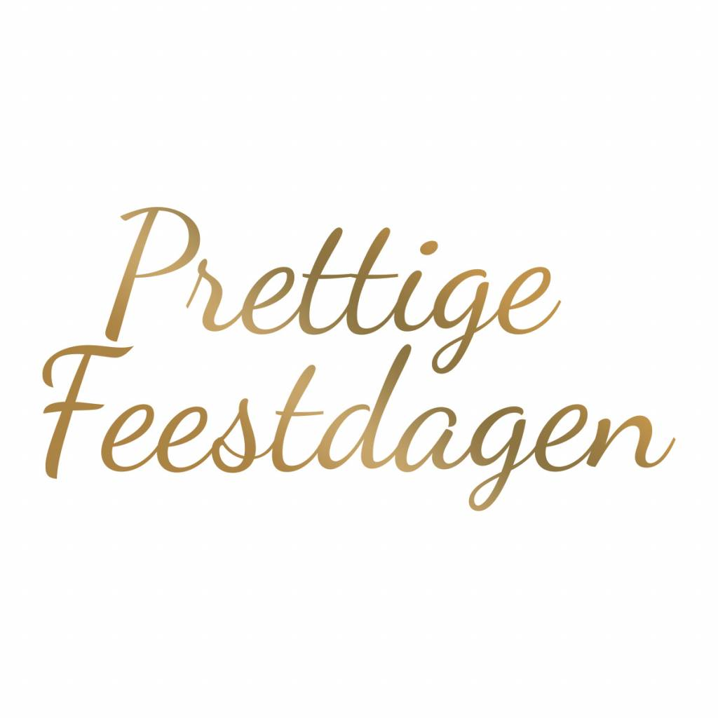 Couture Creations -  Hotfoil Stamp - Prettige Feestdagen