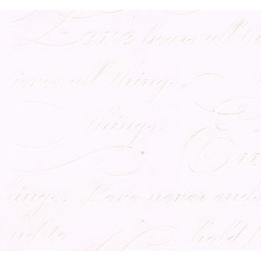 K&Company LB Bordeaux Wedding Words Embossed Paper