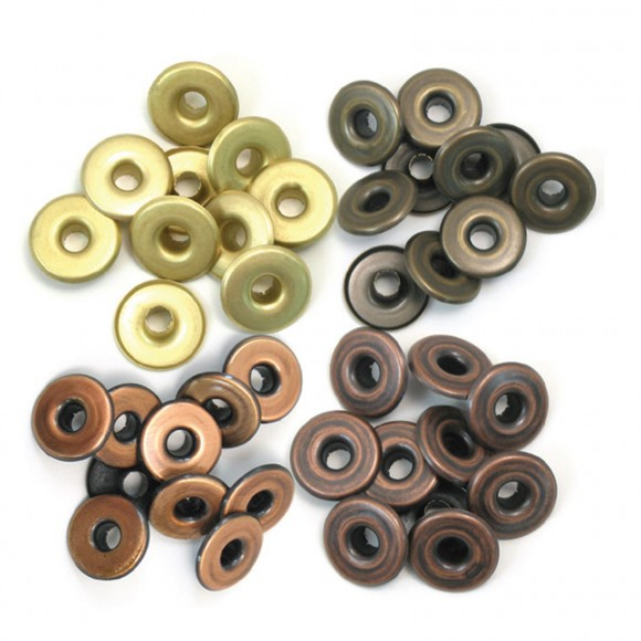 We R Memory Keepers wide eyelets x32 copper warm metal