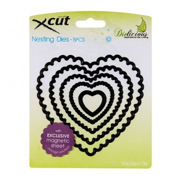 Nesting Dies - Scalloped Heart  (5pcs)