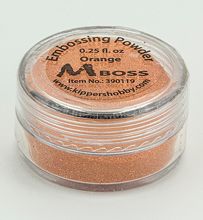 Mboss embossing powder Orange