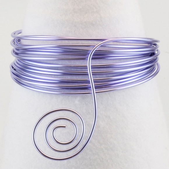 Aluminium wire 1,5mm soft lilac