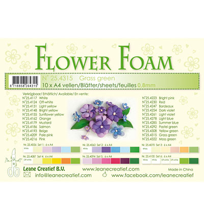 Leane Creatief -  Flowe Foam - Grass green