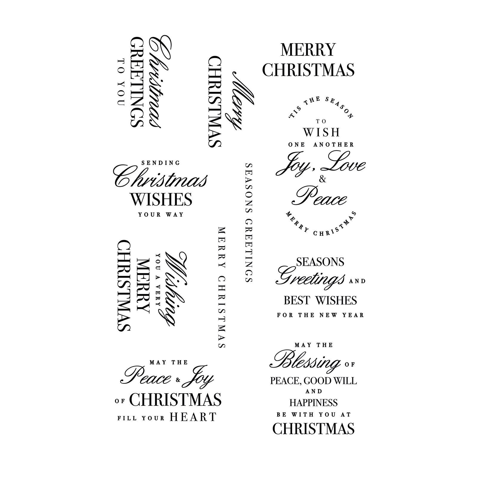 Kaisercraft  Clear stamp christmas greetings