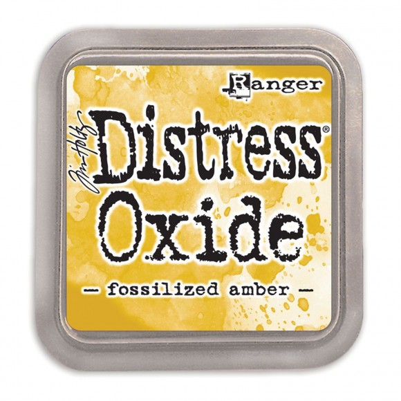 Tim Holtz distress oxide fossilized amber