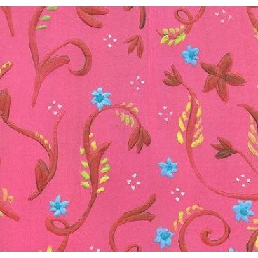 K&Company KH Pink Floral Embossed Paper