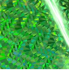 Couture Creations -  Heat Activated Foil -Green Iridescent Triangular Pattern