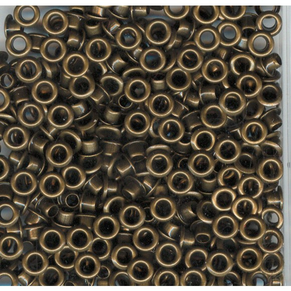 Eyelets x25 metallic antique