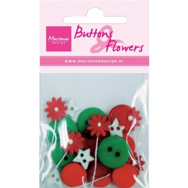 Christmas Buttons & Flowers