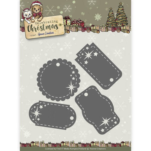Yvonne Creations - Celebrating Christmas- Star Tags
