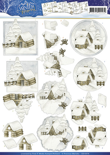 Precious Marieke - Winter Wonderland - Snow cabins