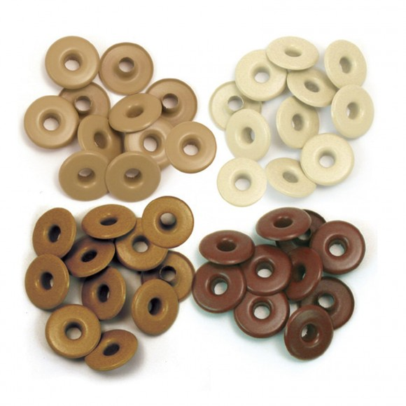 We R Memory Keepers wide eyelets x40 aluminium brown