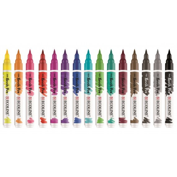 Ecoline Brush Pen set 15 stuks